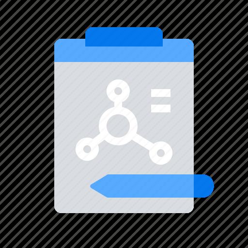 formula, molecular, research icon