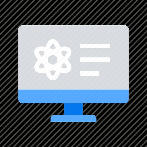 atom, info, monitor icon