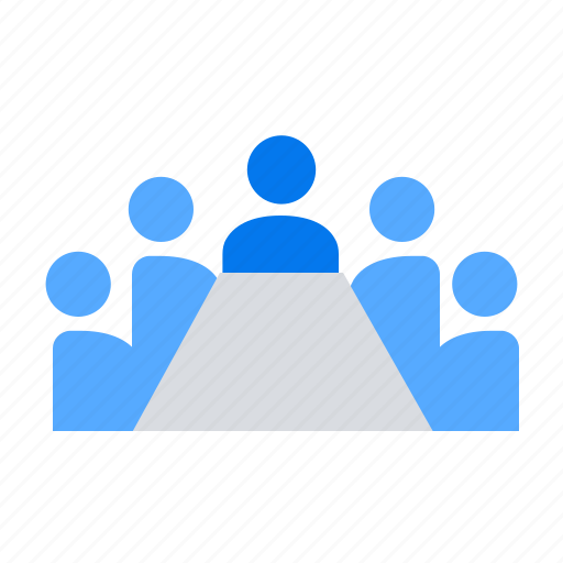 conference, meeting, table icon