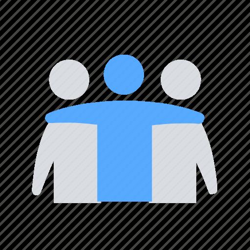 building, friends, team icon