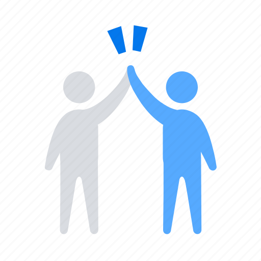 high five, success, teammate icon