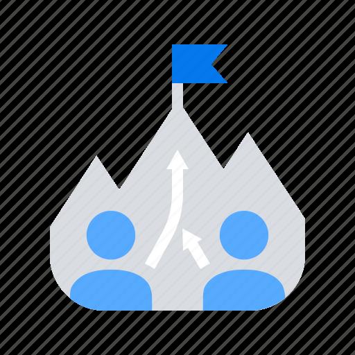 goal, mission, teamwork icon