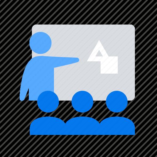 presentation, team, training icon