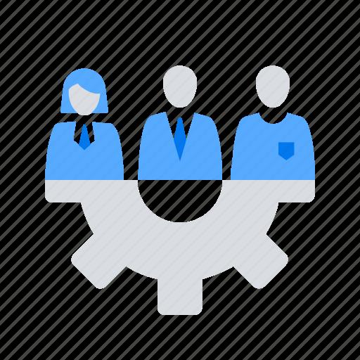cooperation, team, workforce icon