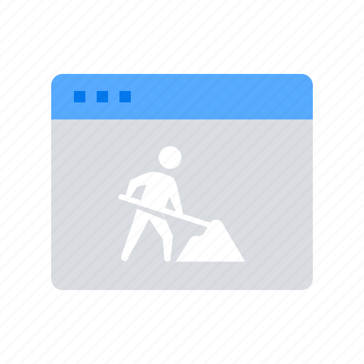 maintenance, under construction, website icon