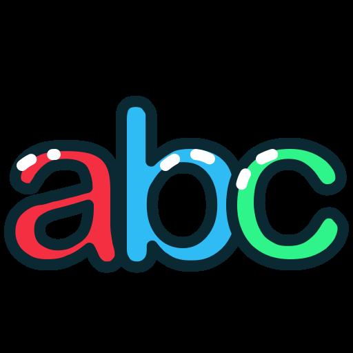 abc, letter, letters, lowercase icon