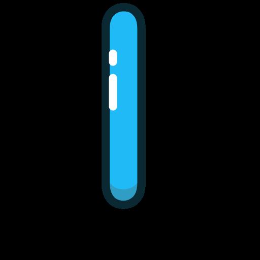 blue, l, letter, lowercase icon