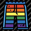 clothes, fashion, rainbow, short