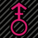 androgyne, femenine, gender, shapes icon