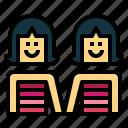 couple, lesbian, people, women icon