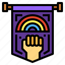 flag, homosexuality, lgbt, rainbow icon