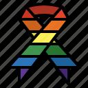 rainbow, ribbon, shapes, solidarity