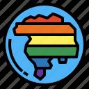 earth, planet, rainbow, world icon