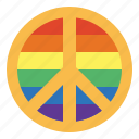 homosexuality, lgbt, peace, rainbow icon