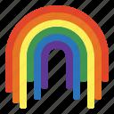 atmospheric, nature, rainbow, weather icon