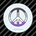 asextual, asexual, flag, lgbt, peace, pride, symbol, symbols icon