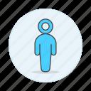 agender, avatar, blue, lgbt, light, men icon