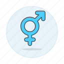 and, blue, color, female, gay, lgbt, light, male, symbol, symbols icon