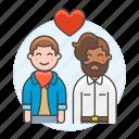 couple, gay, happy, heart, lgbt, love, lover, man, men, partner icon