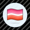 flag, flags, lesbian, lesbians, lgbt, pride, wave icon