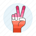 hand, lesbian, lesbians, lgbt, peace, pride, sign, sing icon