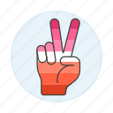 lesbian, lgbt, sign, lesbians, pride, peace, hand, sing icon