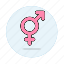 and, color, female, gay, lgbt, male, pink, symbol, symbols icon