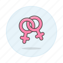 and, color, double, female, homosexual, lesbian, lgbt, pink, symbol, symbols icon