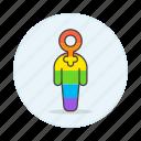 avatar, gay, lgbt, pride, rainbow, symbol, women icon