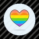 gay, heart, lgbt, pride, rainbow icon