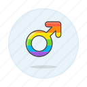 and, color, flag, lgbt, male, pride, rainbow, symbol, symbols icon