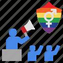 advocate, lgbtq, propaganda, rights, support icon
