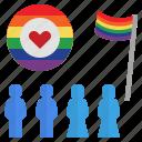 diversity, lgbtq, parade, pride, rainbow icon