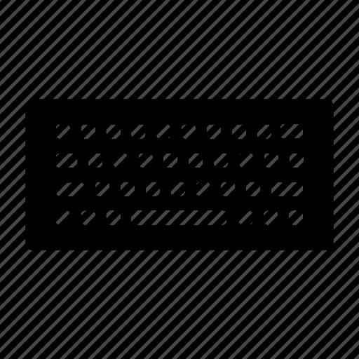 computer, input, keyboard, keys, spacebar, type, typing icon