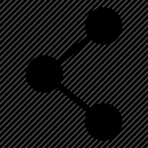 divide, molecule, send, share, split icon