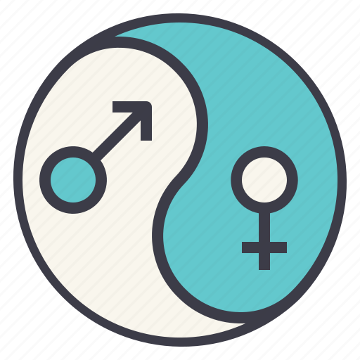 equality, gay, gender, harmony, lgbt, yang, yin icon