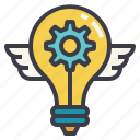 bright, engineering, futuristic, idea, innovation icon
