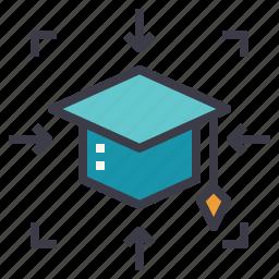 center, college, degree, education, learner, school icon