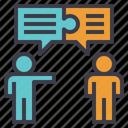 chat, conversation, discussion, negotiation, talk icon