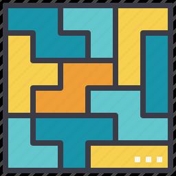 arrangement, logic, organizing, puzzle icon