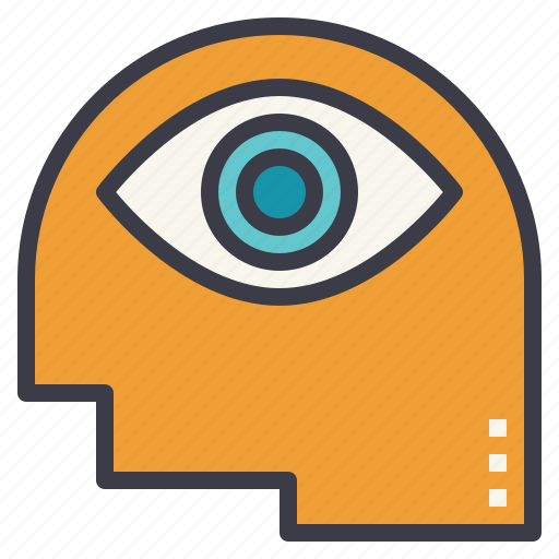 eye, picture, see, think, visualization icon