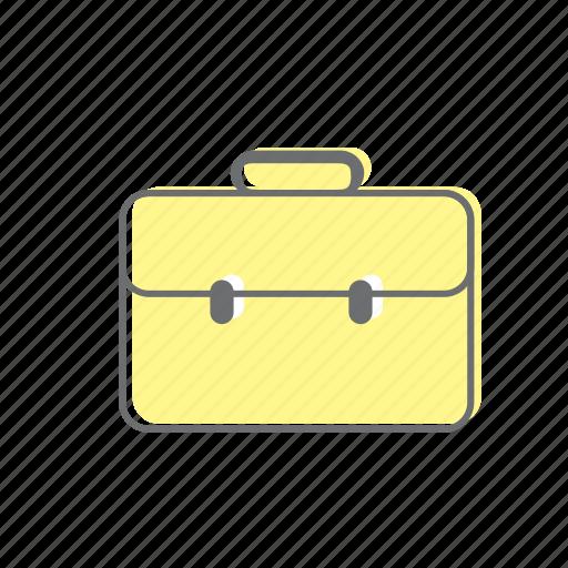 life, style, work bag icon