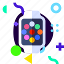 adaptive, ios, isolated, lifestyle, material design, smart watch, watch icon
