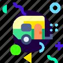 adaptive, caravan, ios, isolated, lifestyle, material design icon