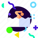 adaptive, ios, isolated, lifestyle, material design, swimming icon