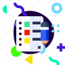 adaptive, checklist, ios, isolated, lifestyle, material design icon