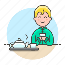 tea, teapot, male, lifestyle, yunomi, tray, outfit, time, cup, chinese, culture, tradition