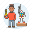 2, builder, building, hobby, lifestyle, male, miniature, mockup, model, modelism, toy icon