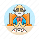 card, cards, game, hand, lifestyle, male, playing, poker icon
