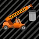car, construction, lifting, technology, truck